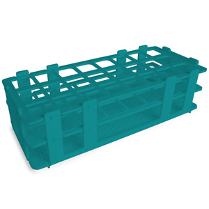 24 Hole Test Tube Rack Turquoise