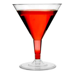 Disposable Martini Glasses 5oz / 140ml