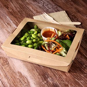 Biodegradable Kraft Salad Box with Window