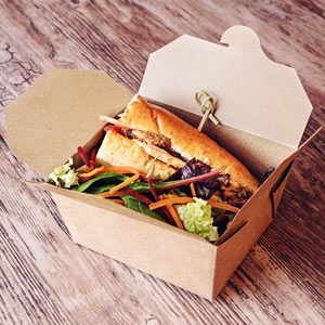Kraft Compostable Hot Food Box 125 x 115mm