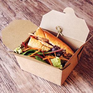 Kraft Compostable Hot Food Box 125 x 115mm