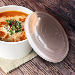 Compostable Lids for 12oz Soup Containers