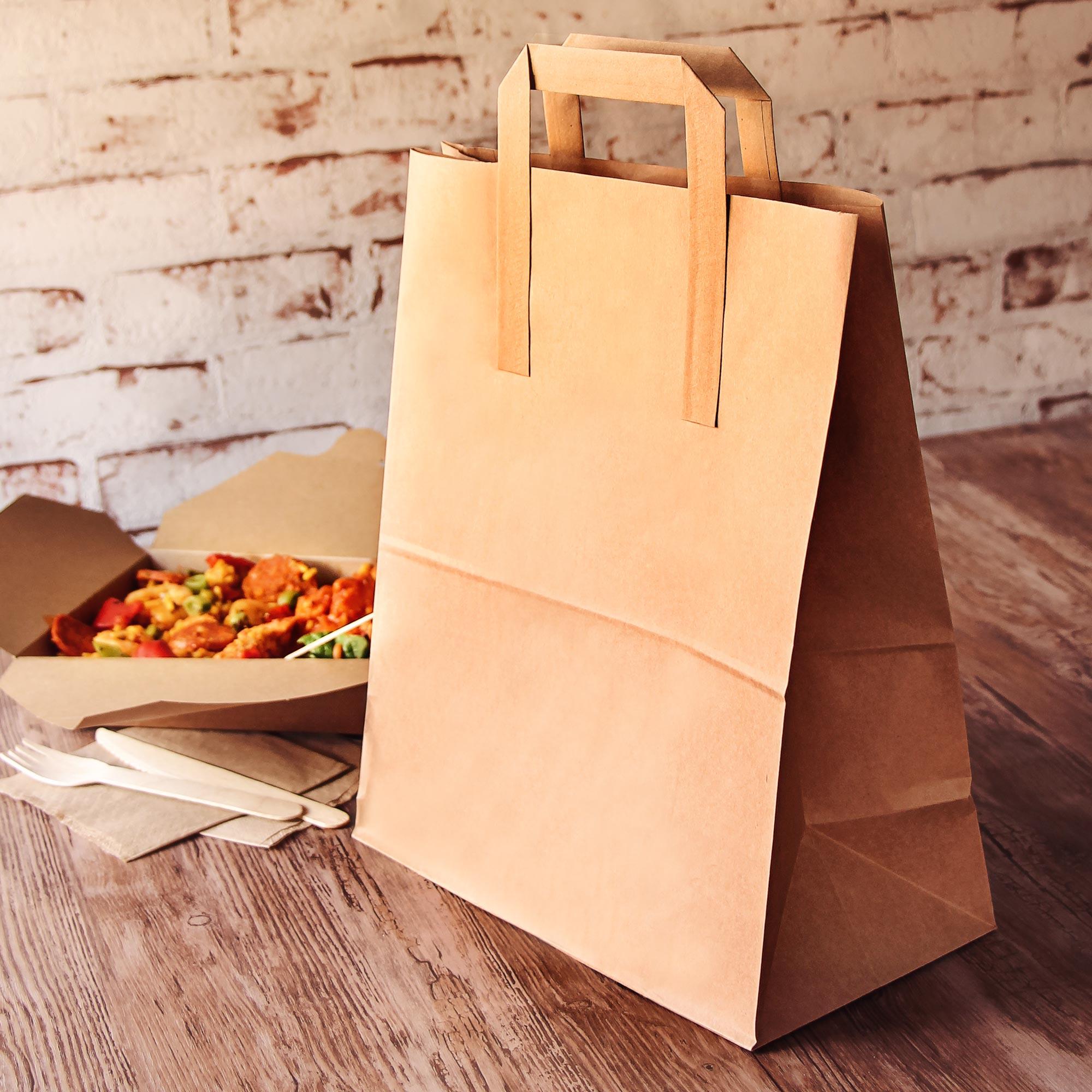 Kraft takeaway food doggy bag large at drinkstuff for Perfect kitchen harrogate takeaway