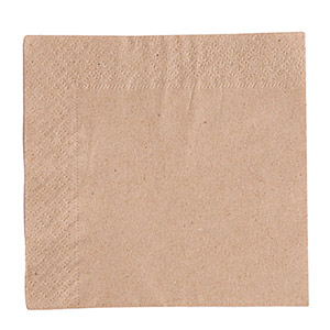 Recycled Unbleached Napkins 24cm 2ply