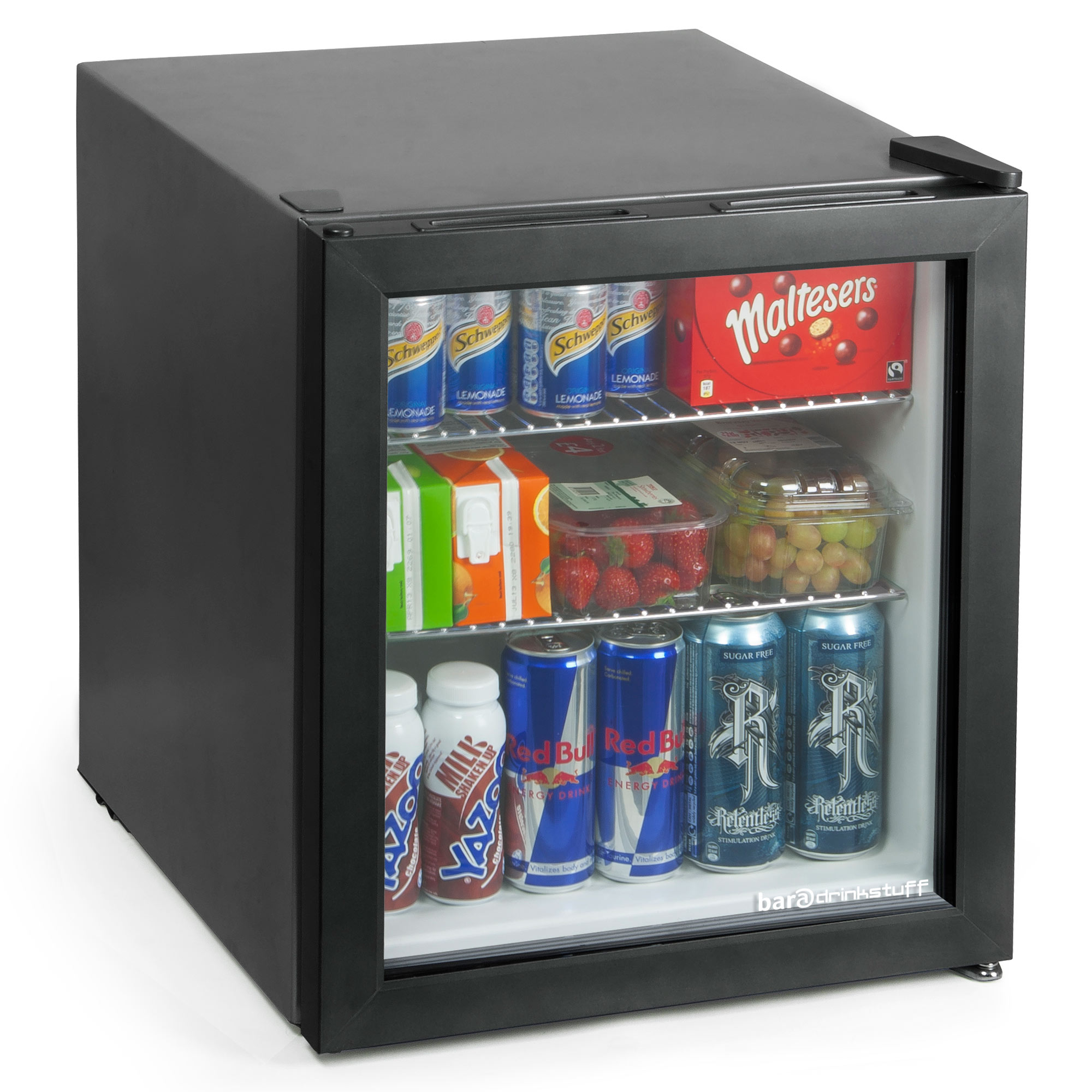 frostbite mini fridge 49ltr black mini fridges bottle coolers buy at drinkstuff. Black Bedroom Furniture Sets. Home Design Ideas