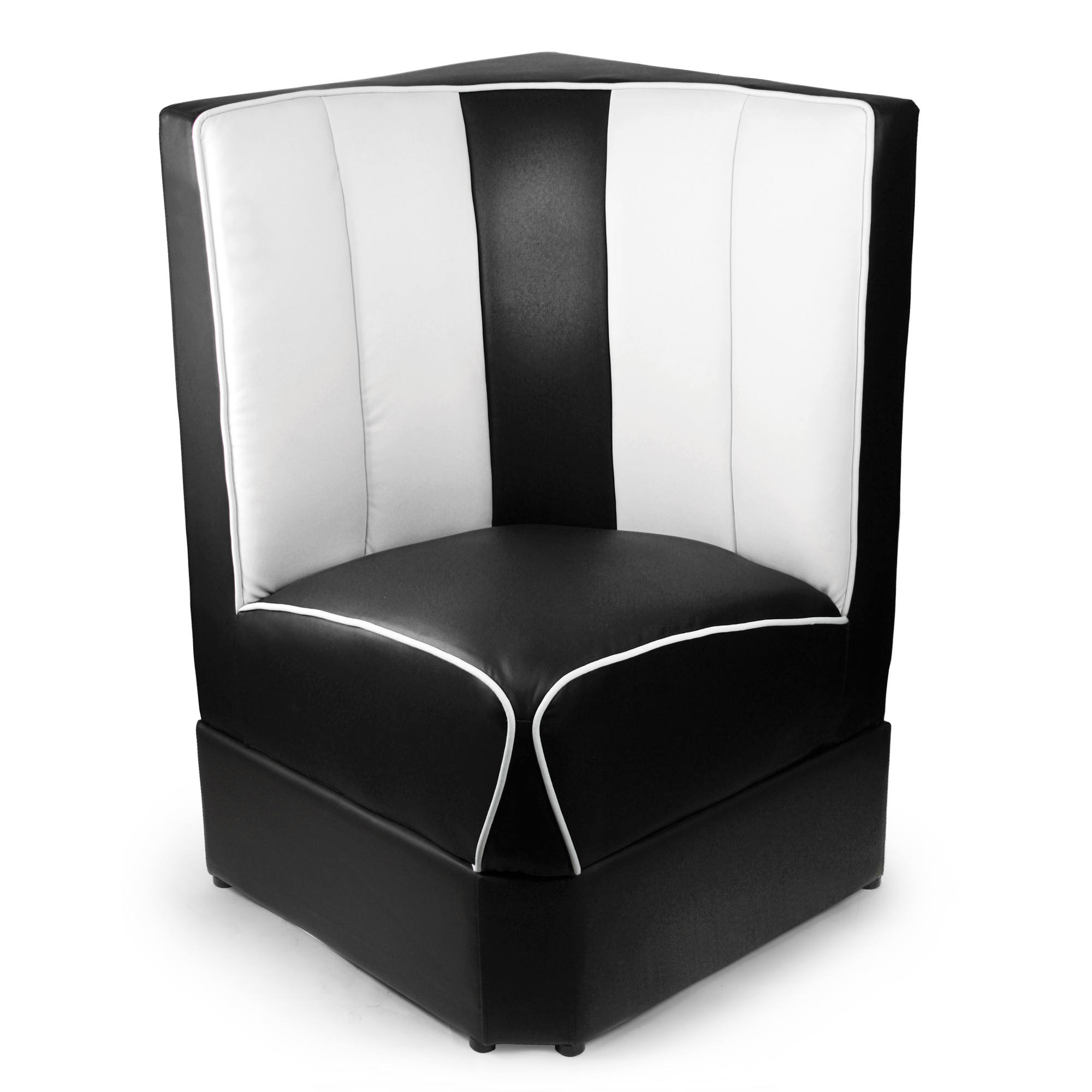 Retro Diner Booth Corner Seat Black Drinkstuff