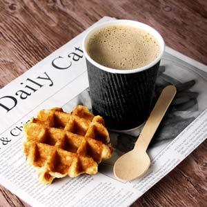 Kraft Black Ripple Disposable Paper Coffee Cups 8oz / 230ml