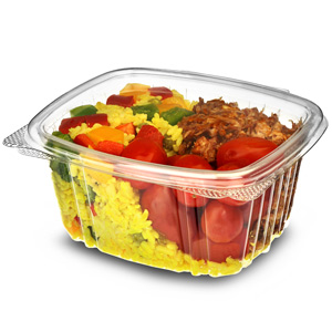 Disposable Hinged Salad Container 16oz / 450ml