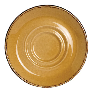 "Steelite Terramesa Double Well Saucer Mustard 5.7"" / 14.5cm"