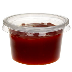 Plastic Disposable Sauce Containers with Lids 4oz / 120ml
