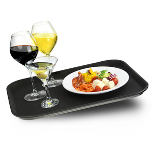 Rectangular Non Slip Tray Black 14 x 18inch