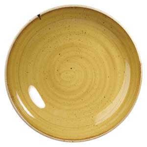 Churchill Stonecast Mustard Seed Yellow Coupe Plate 6.5 Inch / 16.5cm