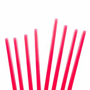 Memphis Straws 5.5inch Red