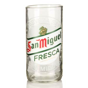 Recycled San Miguel Beer Bottle Glasses 11.6oz / 330ml