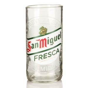 Recycled San Miguel Beer Bottle Glasses 11.6oz / 330ml
