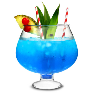 Plastic Footed Cocktail Fish Bowl 80oz / 2.5ltr