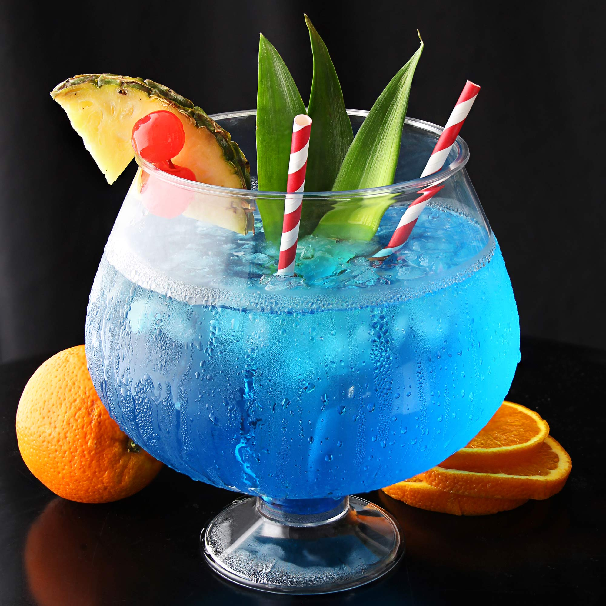 Plastic footed cocktail fish bowl 2 5l cocktail sharer for Plastic fish bowl