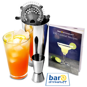 Basic Cocktail Shaker Set with Cocktail Book
