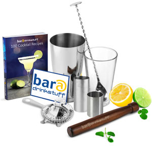 Home Cocktail Set with Cocktail Book & Irish Measures