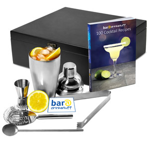 Manhattan Nights Cocktail Gift Set with Recipe Book