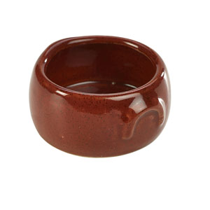 Terra Stoneware Rustic Butter Pot Red 3oz / 90ml