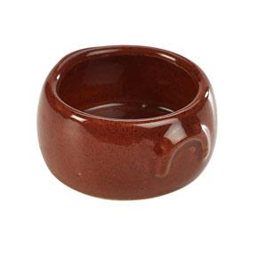 Terra Stoneware Rustic Butter Pot Red 3oz / 90ml