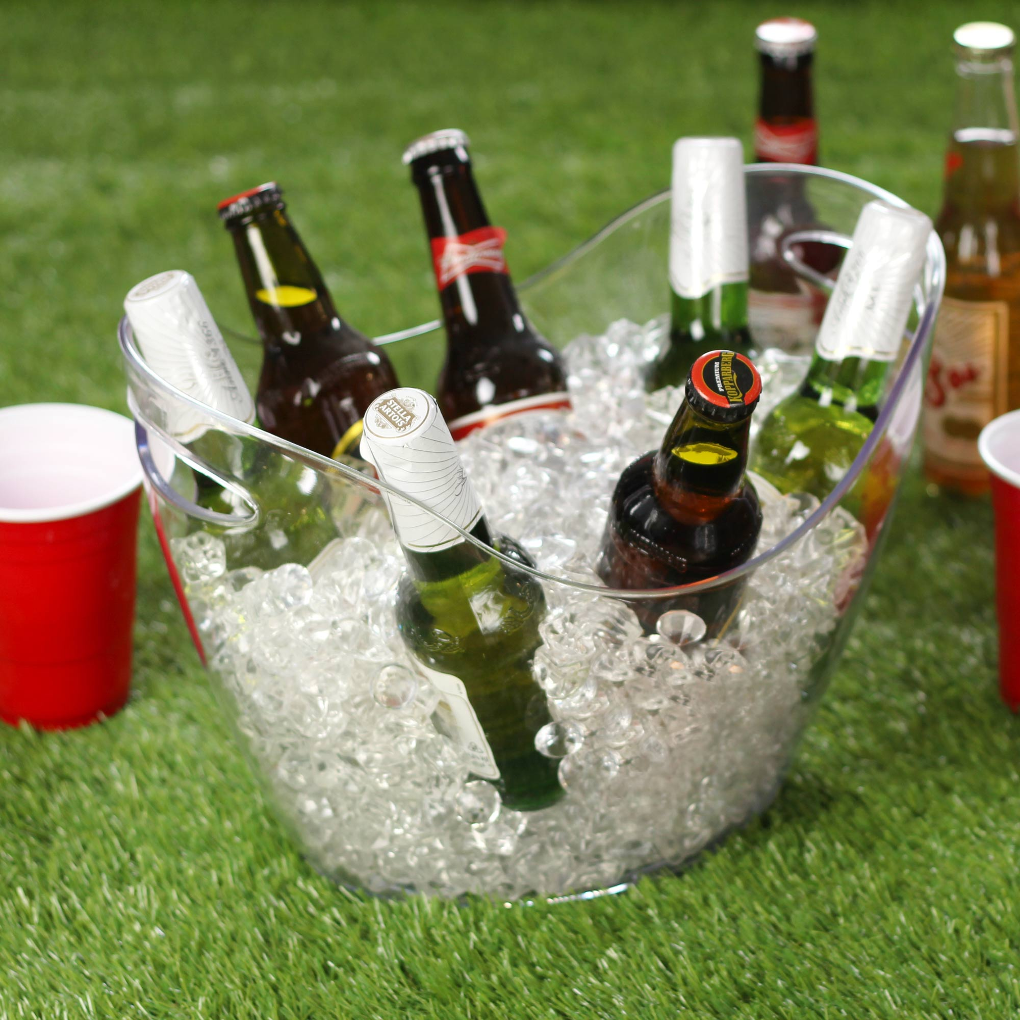 Plastic Drinks Pail Clear