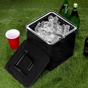 Square Ice Bucket Black 10ltr