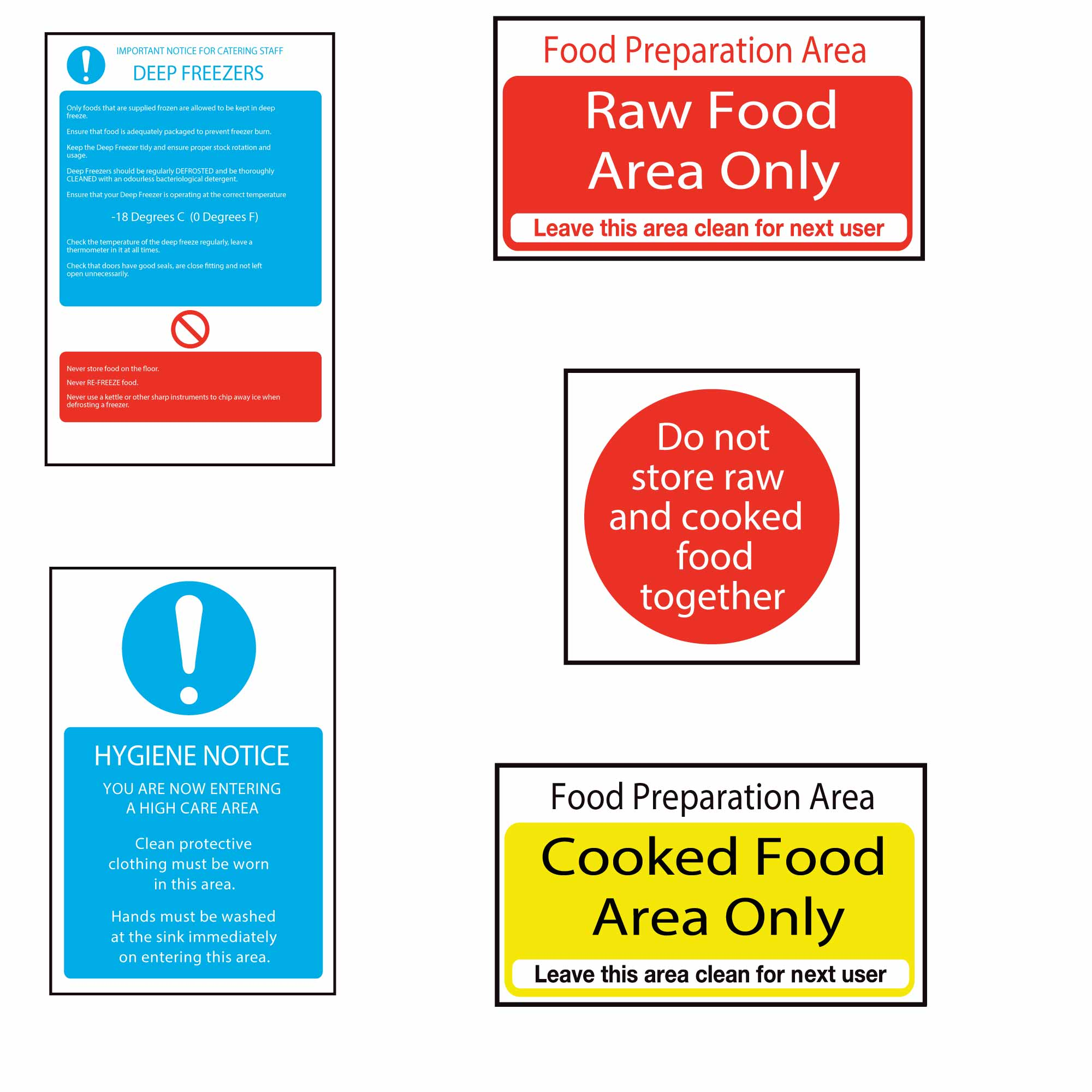 Kitchen Health And Safety Sign Essential Pack At Drinkstuff