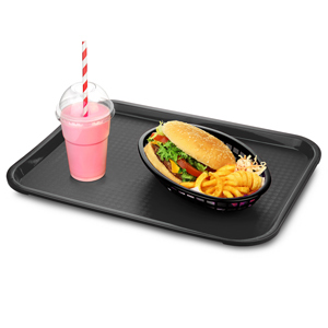 Fast Food Tray Medium Black 12 x 16inch