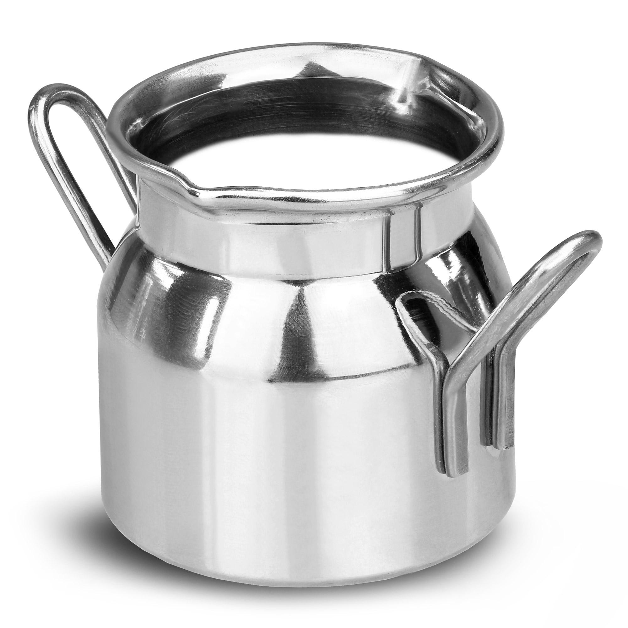 stainless steel mini milk churn 70ml set of 6 novelty. Black Bedroom Furniture Sets. Home Design Ideas