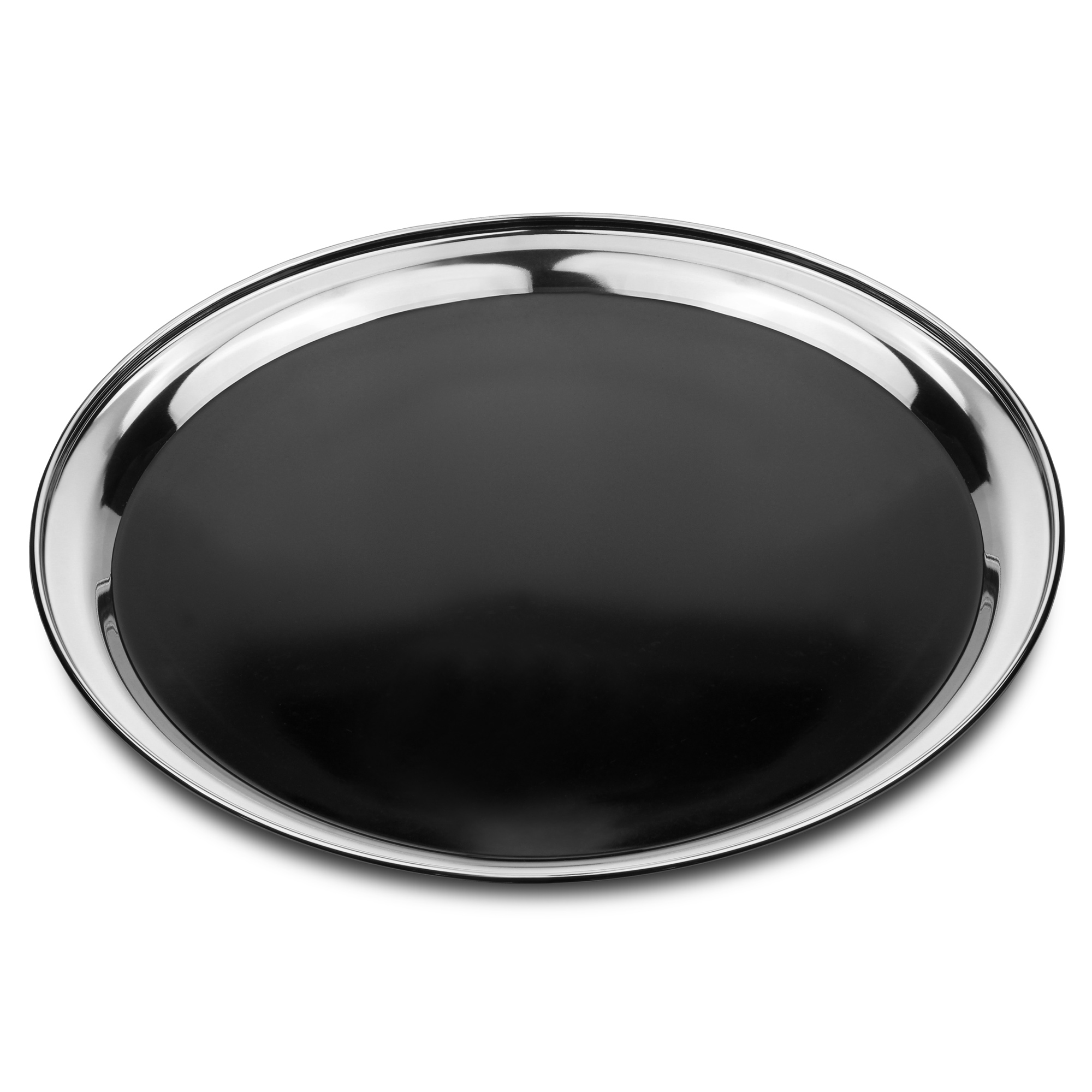 stainless steel bar tray with black pvc inch  buy waiters  - click