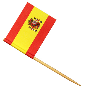 Spanish Flag Cocktail Picks
