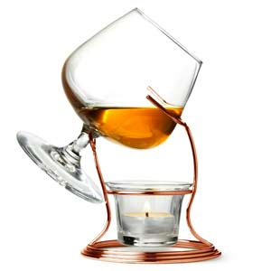 Copper Cognac & Brandy Warmer with Glass