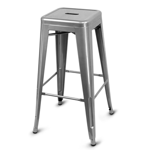 Urban Loft Metal Bar Stool Grey