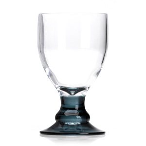 Flamefield Bella Acrylic Goblets with Black Stem 14oz / 410ml