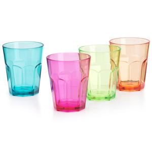 Flamefield Acrylic Party Soda Glasses 12oz / 340ml
