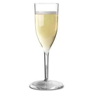 Econ Polystyrene Champagne Flutes 6.5oz / 185ml