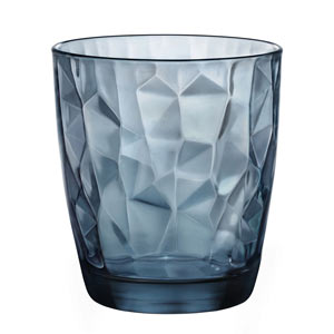 Diamond Water Glasses Ocean Blue 10.5oz / 300ml