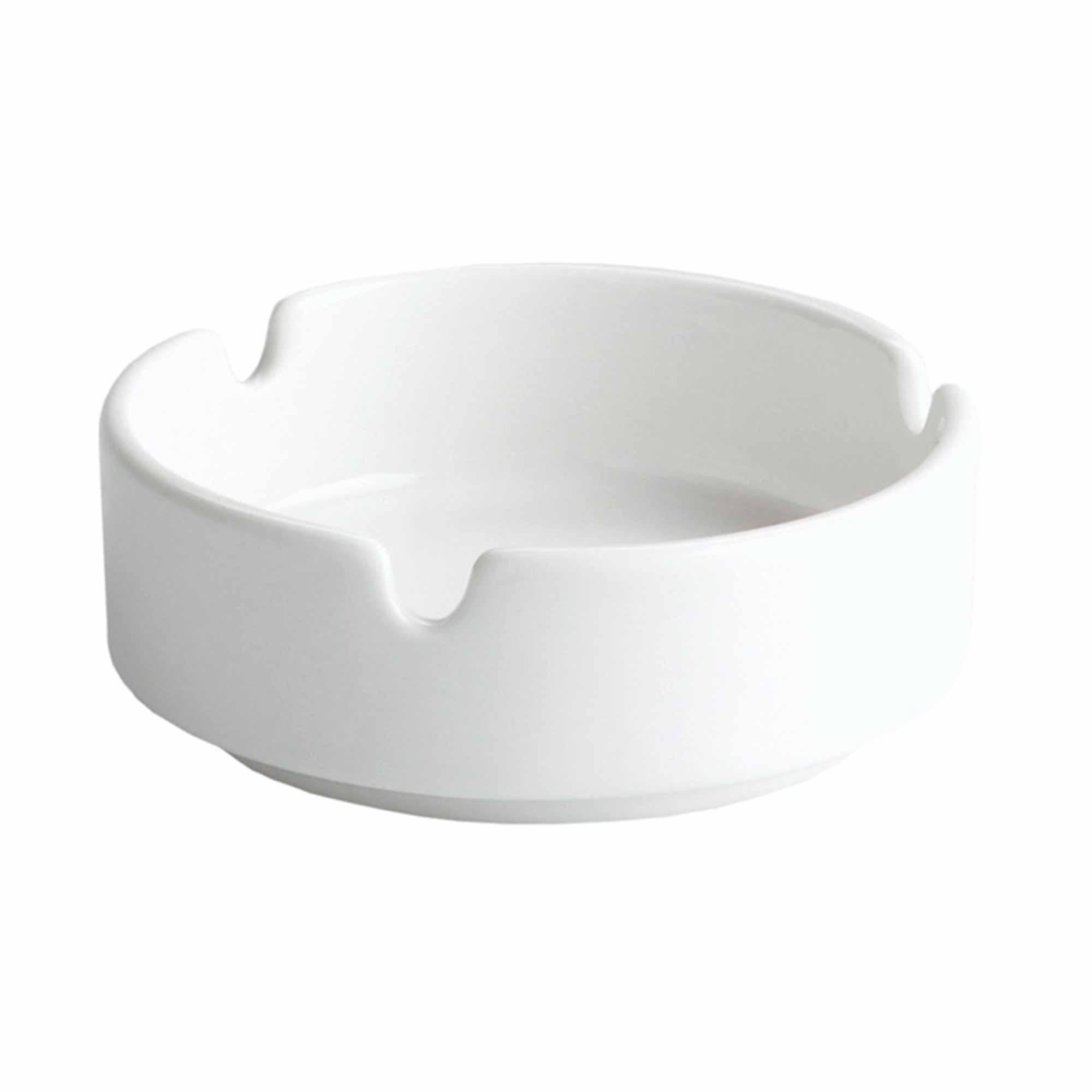 White Moonlight Porcelain Ashtray 10cm At Drinkstuff