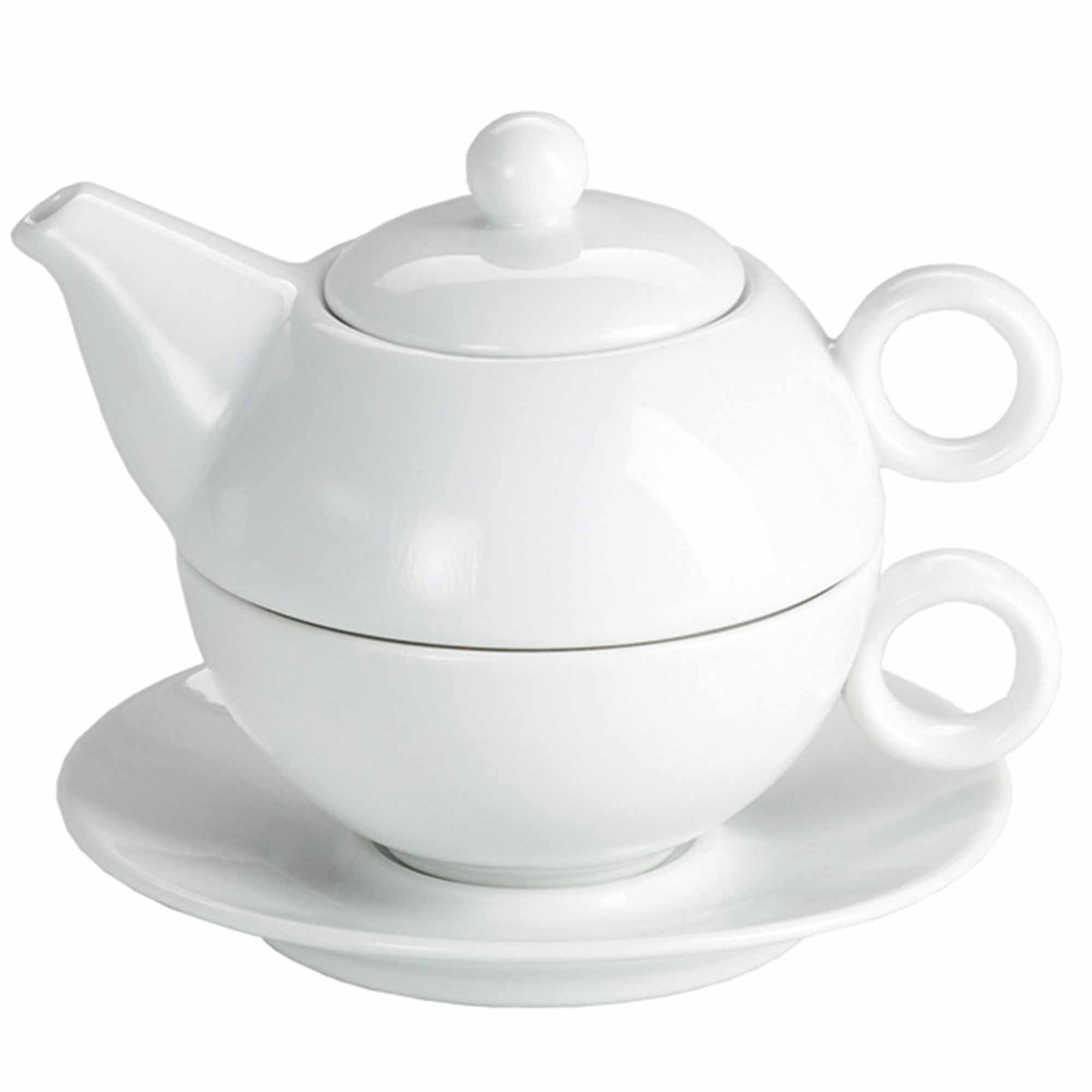 moonlight white tea for one teapot and cup set 250ml. Black Bedroom Furniture Sets. Home Design Ideas