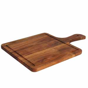 Acacia Square Serving Paddle Board 37 x 25cm (Case of 6)