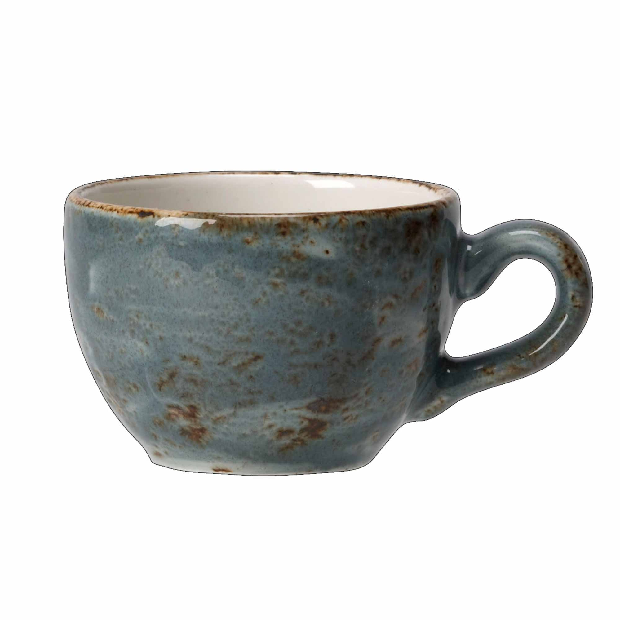 Steelite Craft Blue Rustic Low Cup 340ml At Drinkstuff