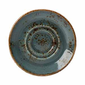 "Steelite Craft Double Well Saucer Blue 5.75"" / 14.5cm"
