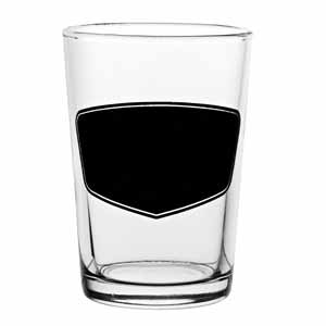 Conical Third Of A Pint Glasses with Blackboard CE 7oz / 200ml