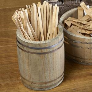Genware Miniature Wooden Barrel 11.5 x 13.5cm