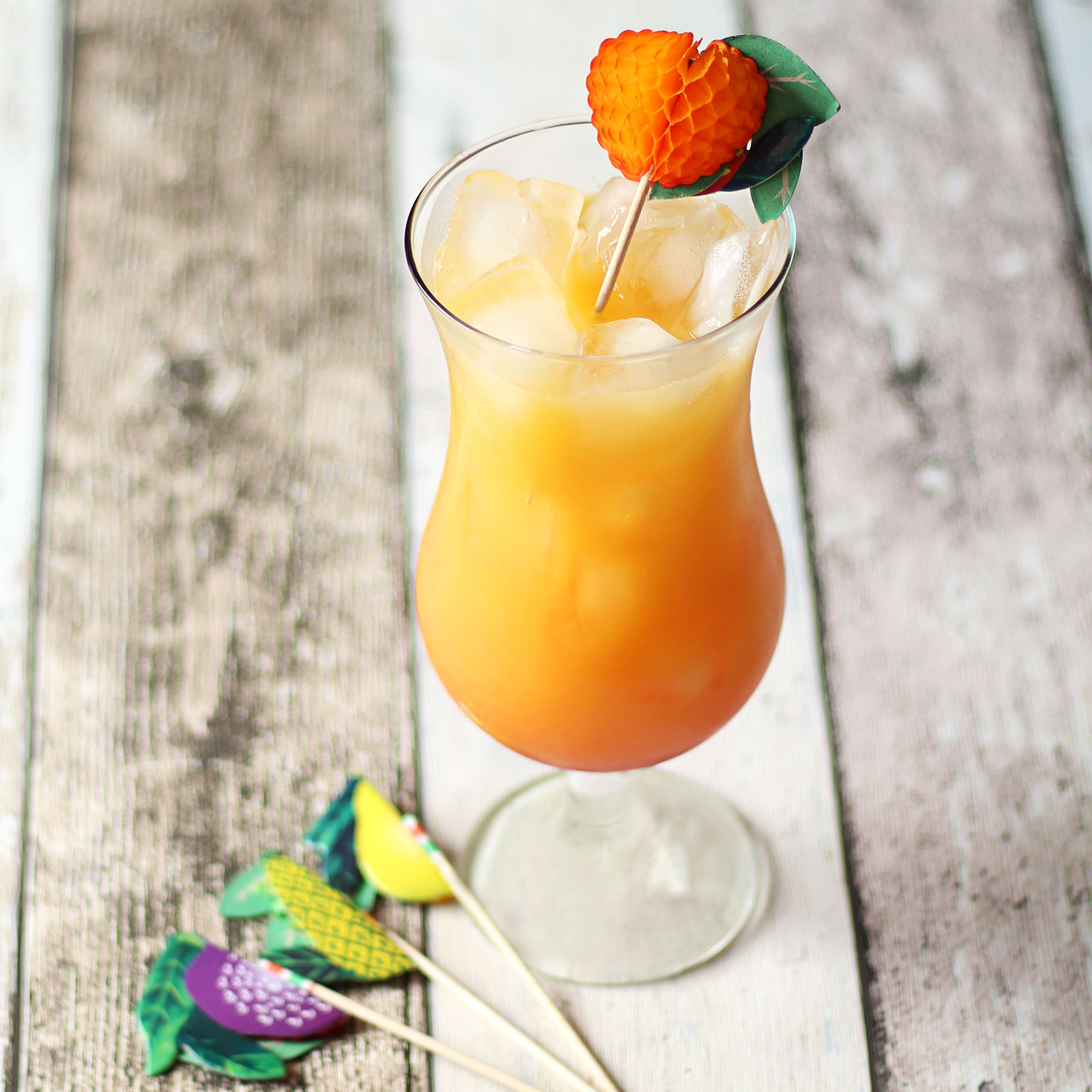 Novelty Fruit Cocktail Stick Decorations At Drinkstuff