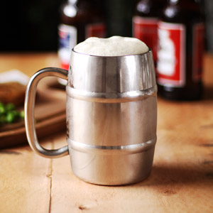 Stainless Steel Beer Barrel Mug 14oz / 400ml