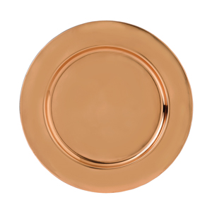 Copper Plated Charger Plate 33cm