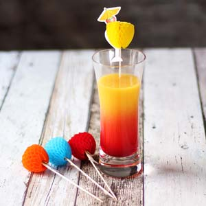 Pina Colada Cocktail Sticks